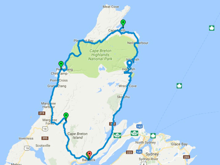 Cape Breton Bike Route