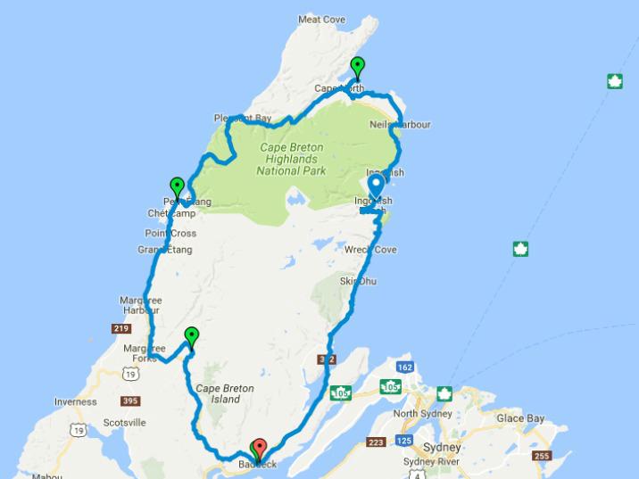 Cape Breton Bike Route